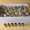 Antigüedades: LOTE DE 100 EMBELLECEDORES PARA PATAS DE SILLA,MUEBLES.A ESTRENAR.. Lote 160958974