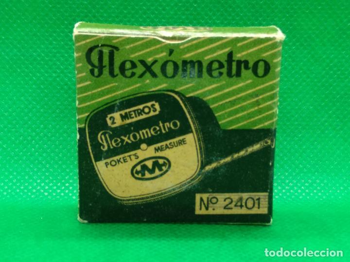 FLEXOMETRO DE 2 METROS PUBLICIDAD FIAMA SA CAJA ORIGINAL Y A ESTRENAR (Antigüedades - Técnicas - Herramientas Antiguas - Otras profesiones)