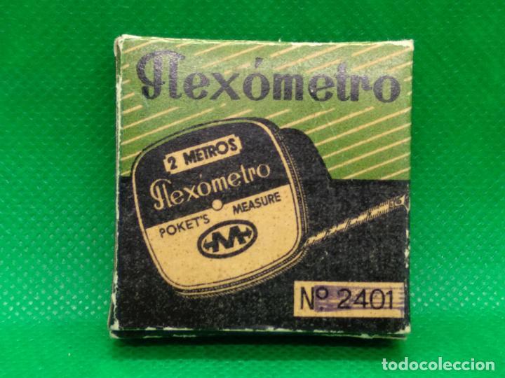 Antigüedades: FLEXOMETRO DE 2 METROS PUBLICIDAD FIAMA SA CAJA ORIGINAL Y A ESTRENAR - Foto 4 - 161035054