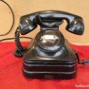 Teléfonos: TELÉFONO DE MANIVELA DEL AÑO 1940. STANDARD ELÉCTRIC. FAB EN ESPAÑA. BAQUELITA Y HIERRO. Lote 161073910