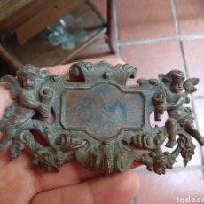 Antigüedades: ANTIGUA PLACA ÁNGELES - QUERUBINES - REMATE MUEBLES - PUERTAS - DECORACIÓN -. Lote 161115396