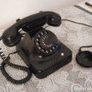 Teléfonos: TELÉFONO DE MESA ALEMÁN ANTIGUO DE BAQUELITA MODELO W504 HECHO EN ALEMANIA A PARTIR FINALES AÑOS 40. Lote 161153910