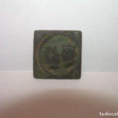 Antigüedades: ANTIGUO PONDERAL DE BRONCE REYES CATOLICOS.....ISABEL Y FERNANDO....MUY BUEN ESTADO.. Lote 161226978