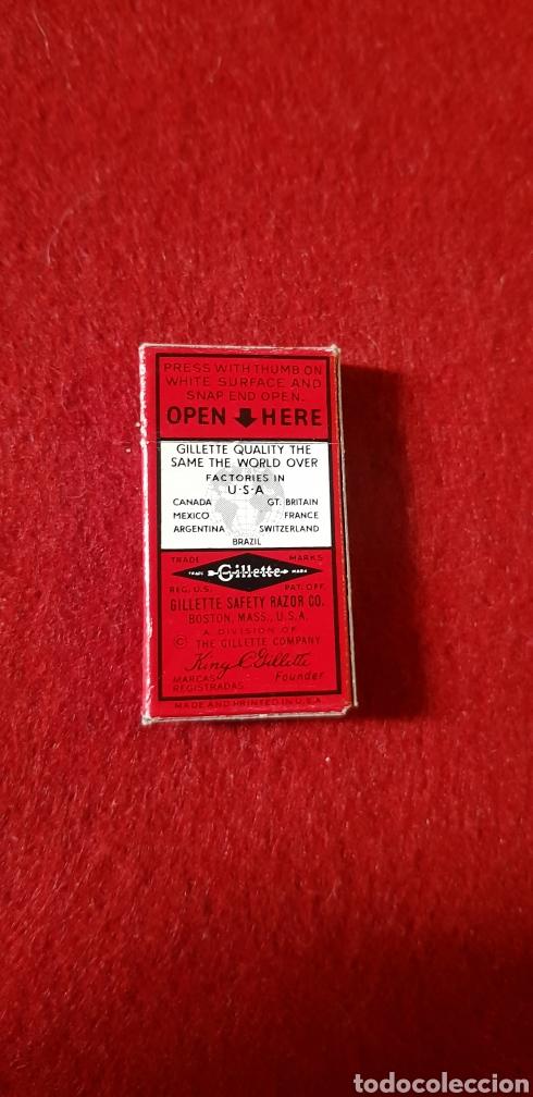 Antigüedades: Caja de cuchillas de afeitar Gillette Blade sin abrir - Foto 2 - 161267585