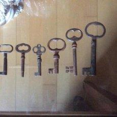 Antigüedades: LLAVES ANTIGUAS. Lote 161281434