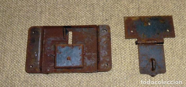 Antigüedades: Cerradura para baul.Sin llave. - Foto 3 - 174532554