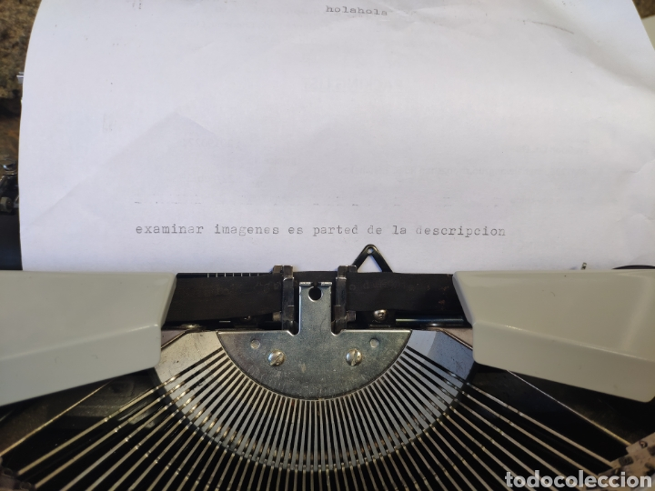 Antigüedades: Maquina de escribir silver reed 200 - Foto 2 - 161467158
