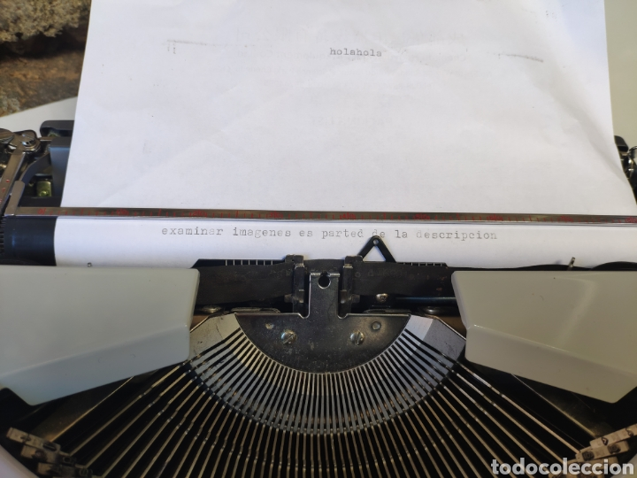 Antigüedades: Maquina de escribir silver reed 200 - Foto 4 - 161467158