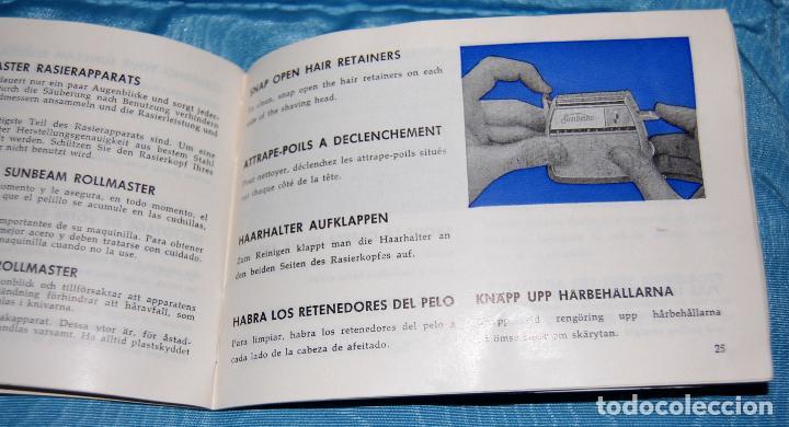 Antigüedades: MÁQUINA DE AFEITAR SUNBEAM MULTI-VOLT ROLLMASTERS AÑOS 50 - Foto 14 - 161408722