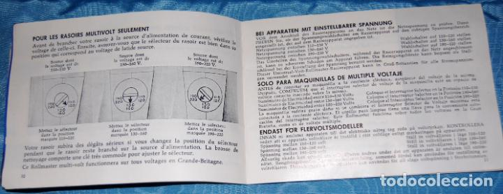 Antigüedades: MÁQUINA DE AFEITAR SUNBEAM MULTI-VOLT ROLLMASTERS AÑOS 50 - Foto 17 - 161408722