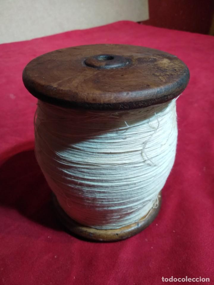 BOBIBA CARRETE HILO DE MADERA 12,5 CM ALTURA (Antigüedades - Técnicas - Máquinas de Coser Antiguas - Complementos)