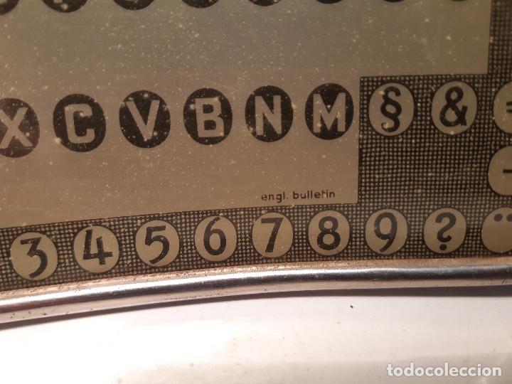 Antigüedades: cilindro y placa de tipos, AEG Mignon, Alemania, fuente english bulletin - Foto 2 - 161549186