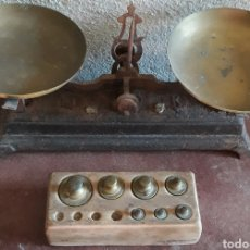 Antigüedades: BALANZA ANTIGUA HIERRO FUNDIDO. Lote 161570878