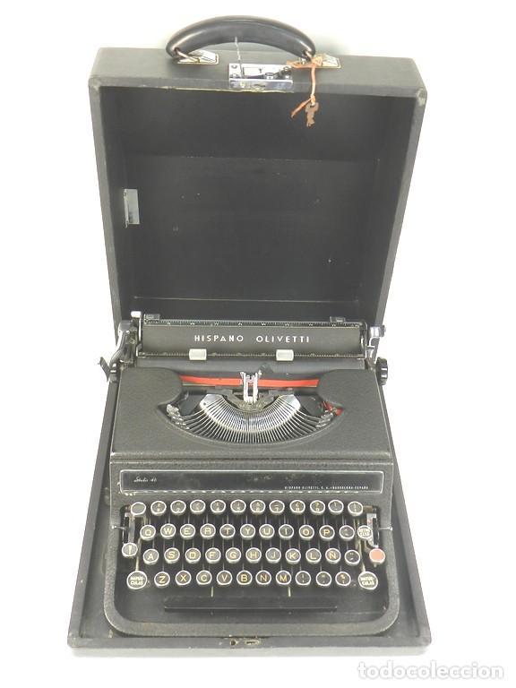 MAQUINA DE ESCRIBIR HISPANO OLIVETTI STUDIO 46 (Antigüedades - Técnicas - Máquinas de Escribir Antiguas - Underwood)