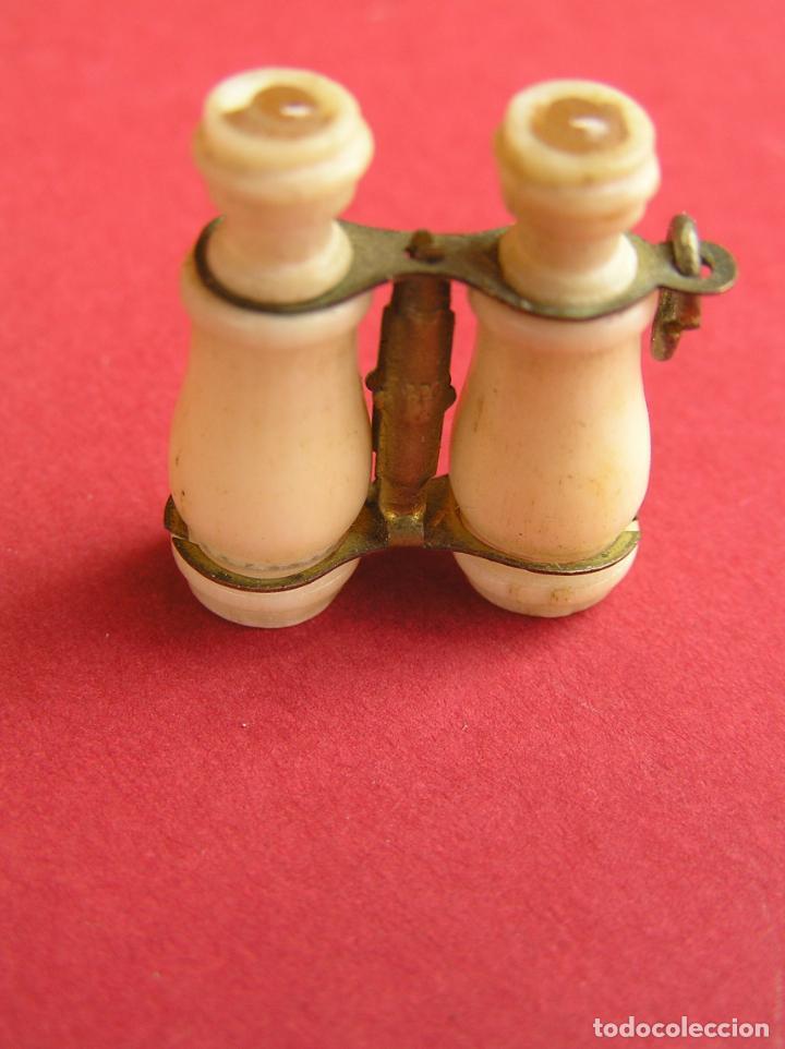 Antigüedades: STANHOPE PRISMÁTICOS miniatura de HUESO . vistas de Nª Sª de Cullera - Foto 2 - 161654274
