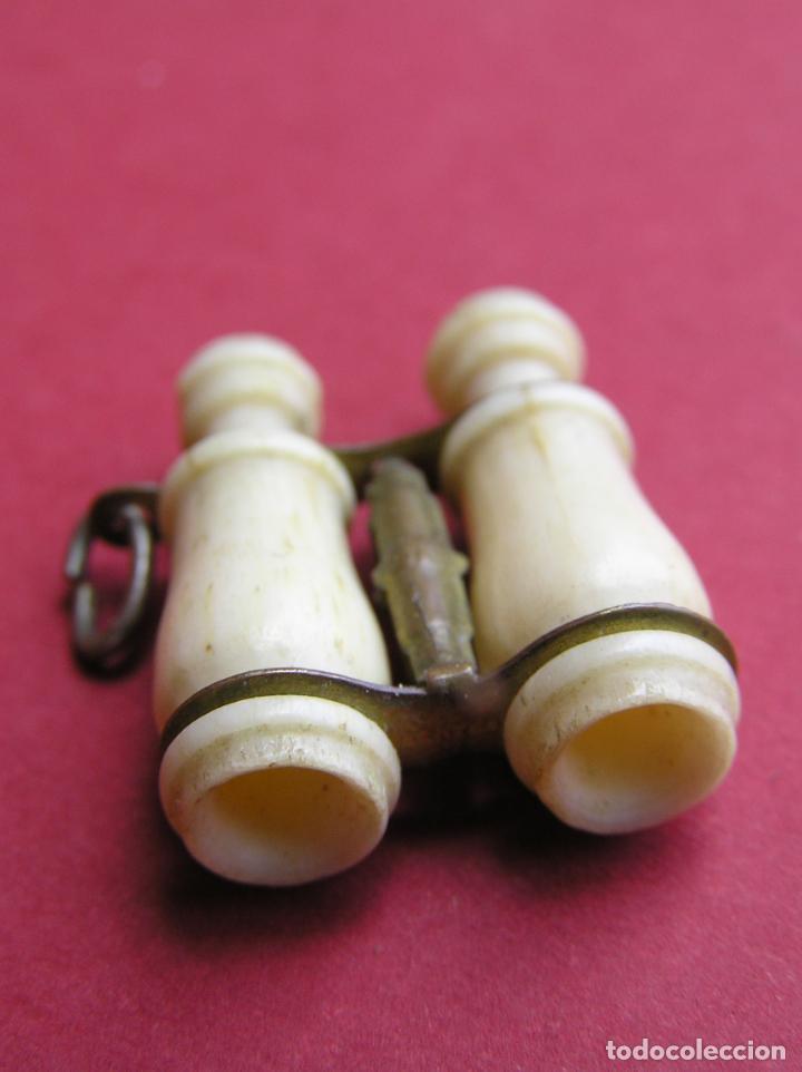 Antigüedades: STANHOPE PRISMÁTICOS miniatura de HUESO . vistas de Nª Sª de Cullera - Foto 4 - 161654274