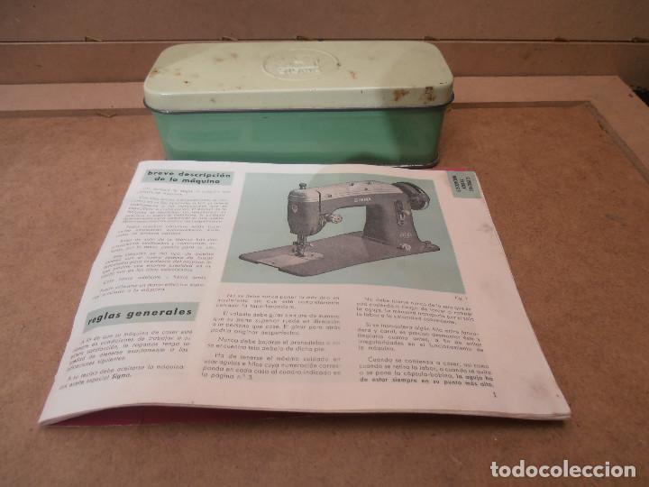 Caja Metálica Máquina Coser Sigma Libro Instr Vendido En Venta Directa 161705914