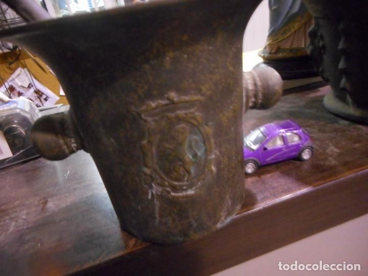 Antigüedades: antiguo mortero almirez de farmacia - Foto 4 - 161708606