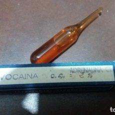 Antigüedades: ANTIGUA CAJA CON AMPOLLA NOVOCAINA ADRENALINA MEDICAMENTO . Lote 161980706