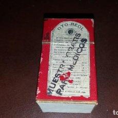 Antigüedades: ANTIGUO CAJA VACIA DE OTO REOL MADRID MEDICAMENTO . Lote 161982810