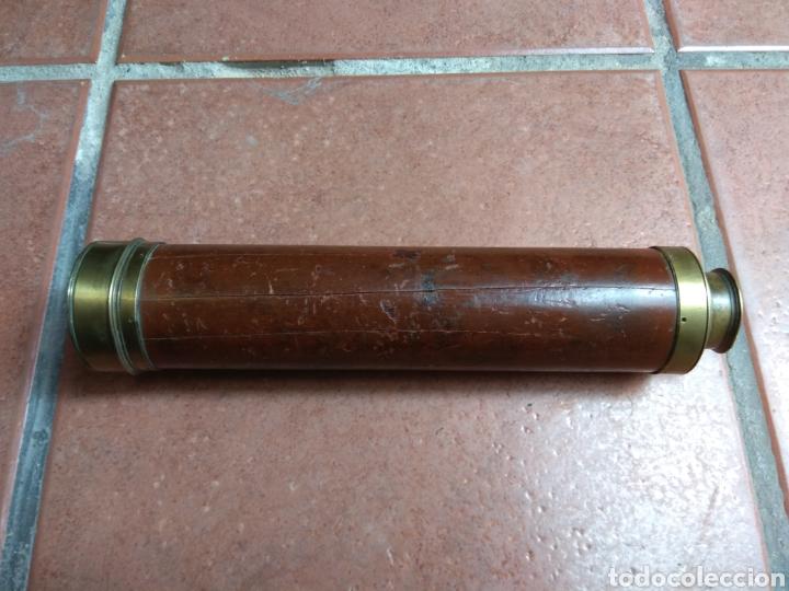 Antigüedades: Antiguo Catalejo Marino de 4 Tramos Dollond London - Foto 2 - 162039233