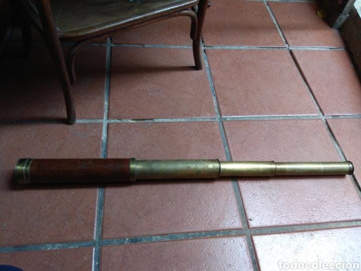 Antigüedades: Antiguo Catalejo Marino de 4 Tramos Dollond London - Foto 7 - 162039233