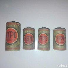Antigüedades: LOTE DE 4 PILAS SECA FEPE. Lote 162056842