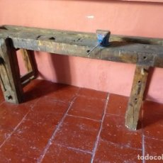 Antiguidades: ANTIGUO BANCO DE CARPINTERO. Lote 162121910