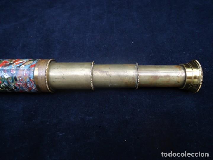 Antigüedades: Antiguo catalejo en laton con tres extensiones - Foto 4 - 162221810