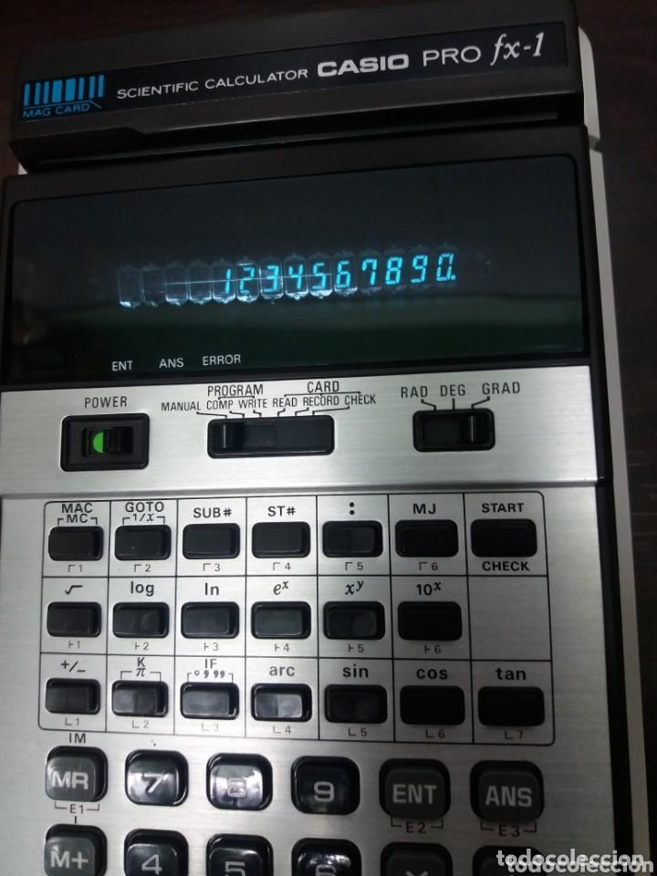 Antigüedades: Antigua y muy difícil calculadora CASIO PRO FX-1 - Foto 6 - 162239102