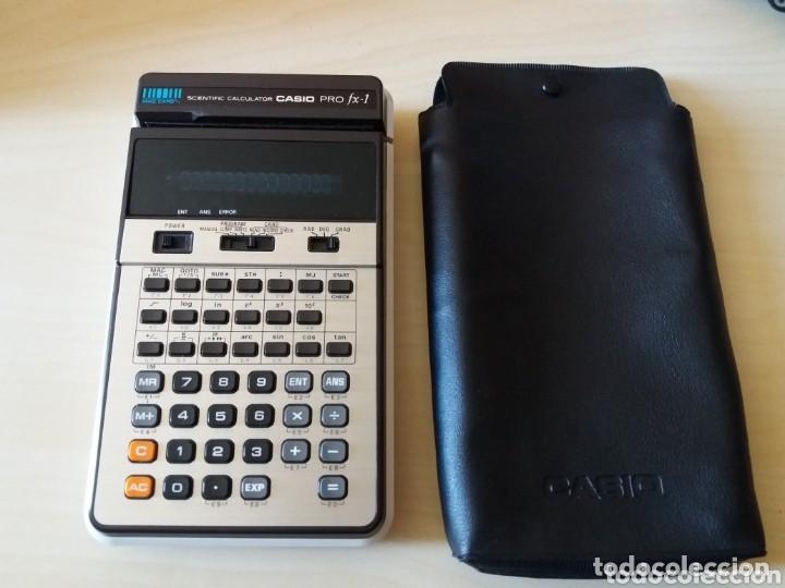Antigüedades: Antigua y muy difícil calculadora CASIO PRO FX-1 - Foto 2 - 162239102