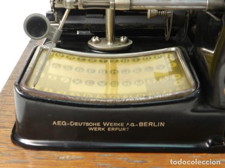Antigüedades: MAQUINA DE ESCRIBIR MIGNON Nº4 AÑO 1924. RAREZA: TECLADO ESPAÑOL - Foto 6 - 162307830