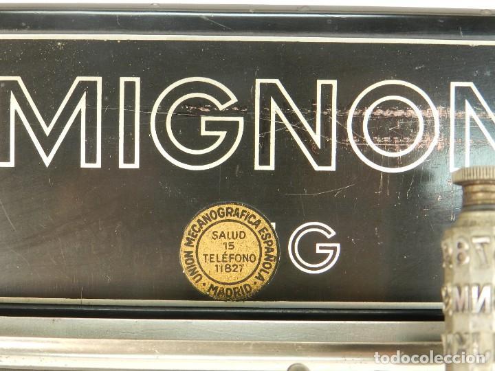 Antigüedades: MAQUINA DE ESCRIBIR MIGNON Nº4 AÑO 1924. RAREZA: TECLADO ESPAÑOL - Foto 8 - 162307830
