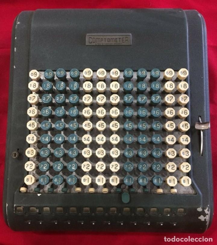 ANTIGUA CALCULADORA COMPTOMETER DE FELT & TARRANT DE U.S.A PARA ITALIA AÑOS 40 2ª GUERRA MUNDIAL (Antigüedades - Técnicas - Aparatos de Cálculo - Calculadoras Antiguas)