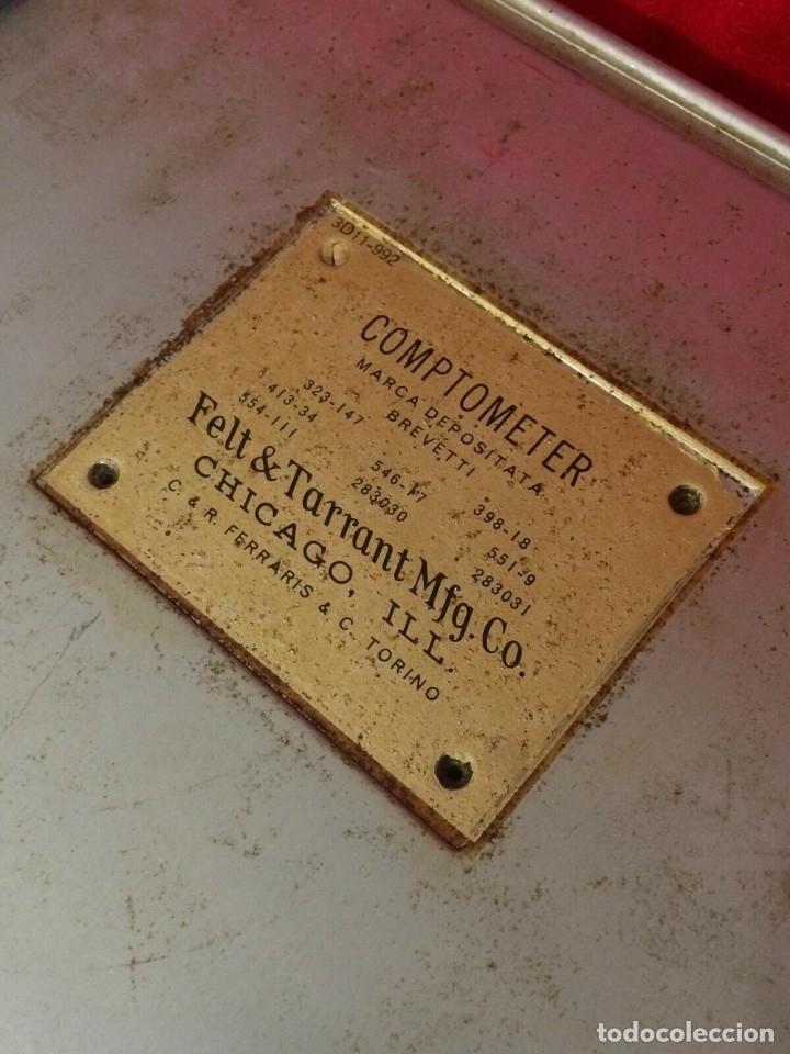 Antigüedades: ANTIGUA CALCULADORA COMPTOMETER DE FELT & TARRANT DE U.S.A PARA ITALIA AÑOS 40 2ª GUERRA MUNDIAL - Foto 4 - 162339318