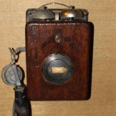 Teléfonos: ANTIGUO TELEFONO DE MADERA, AÑOS 1930-40. Lote 162339710