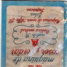 Antigüedades - Libro de instrucciones para maquina de coser alfa - 162355646