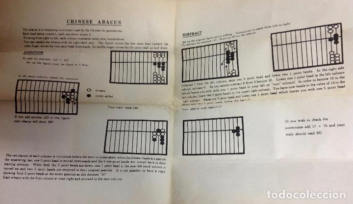 Antigüedades: Ábaco chino, con instrucciones. Adquirido en Chinatown, en Nueva York en los años 80. - Foto 3 - 162511178