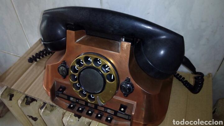 ANTIGUO TELÉFONO CENTRALITA DORADO, ERICSSON (Antigüedades - Técnicas - Teléfonos Antiguos)