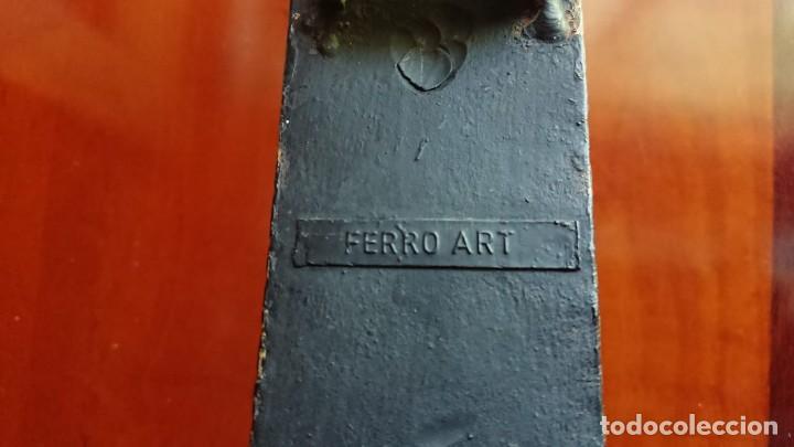 Antigüedades: ANTIGUO APLIQUE HIERRO FORJADO SELLO FERRO ART - Foto 8 - 162578394