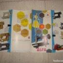 Antigüedades: FOLLETO PUBLICITARIO CATALOGO MAQUINAS DE COSER ALFA . Lote 162583074