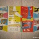 Antigüedades: ANTIGUO FOLLETO PUBLICITARIO MAQUINAS DE COSER ALFA CATALOGO. Lote 162583606