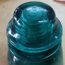 Antigüedades: JÍCARA AISLANTE ELECTRICIDAD VIDRIO 11 CM. ALTURA. Lote 162604430