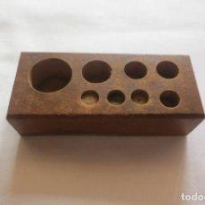 Antigüedades: TACO DE PESAS VACIO. Lote 162767014