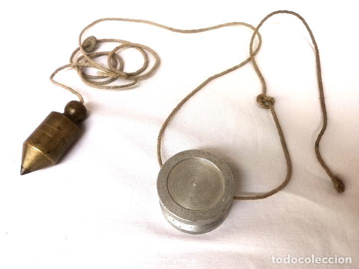 ANTIGUA PLOMADA DE BRONCE (Antigüedades - Técnicas - Herramientas Profesionales - Albañileria)