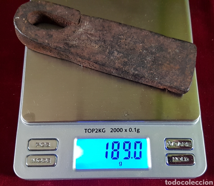 ANTIGUA ROMANA MEDIDA PESO FORJA (Antigüedades - Técnicas - Medidas de Peso - Romanas Antiguas)