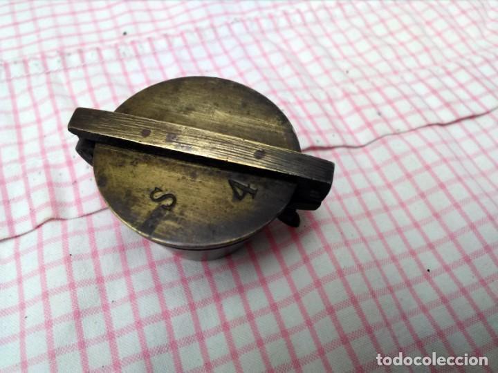 Antigüedades: Juego de ponderales de bronce vasos anidados s. XIX - Foto 5 - 163547598