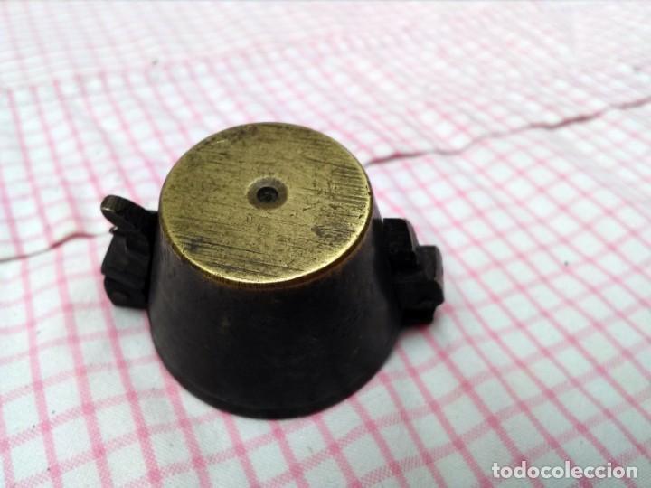 Antigüedades: Juego de ponderales de bronce vasos anidados s. XIX - Foto 6 - 163547598