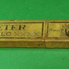 Antigüedades: CAJA VACIA ORIGINAL PARA NAVAJA DE AFEITAR BETER MODELO XXXX 14. STRAIGHT RAZOR, BOX, RASOIO. Lote 163620586