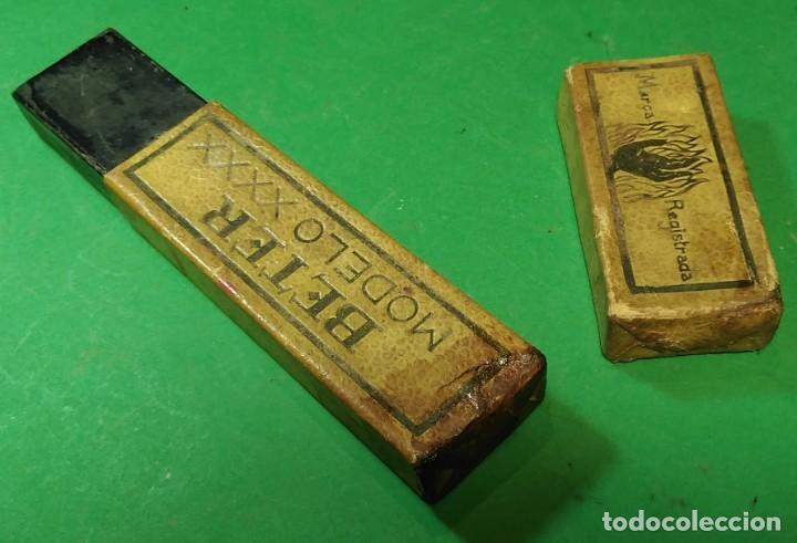 Antigüedades: Caja vacia original para navaja de afeitar BETER modelo XXXX 14. Straight razor, Box, Rasoio - Foto 2 - 163620586